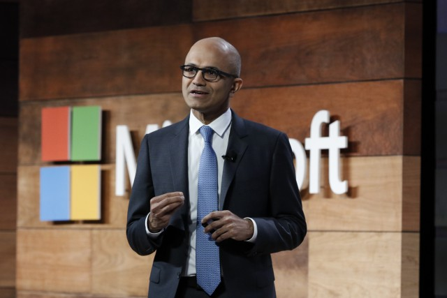 Microsoft CEO Satya Nadella Speaking