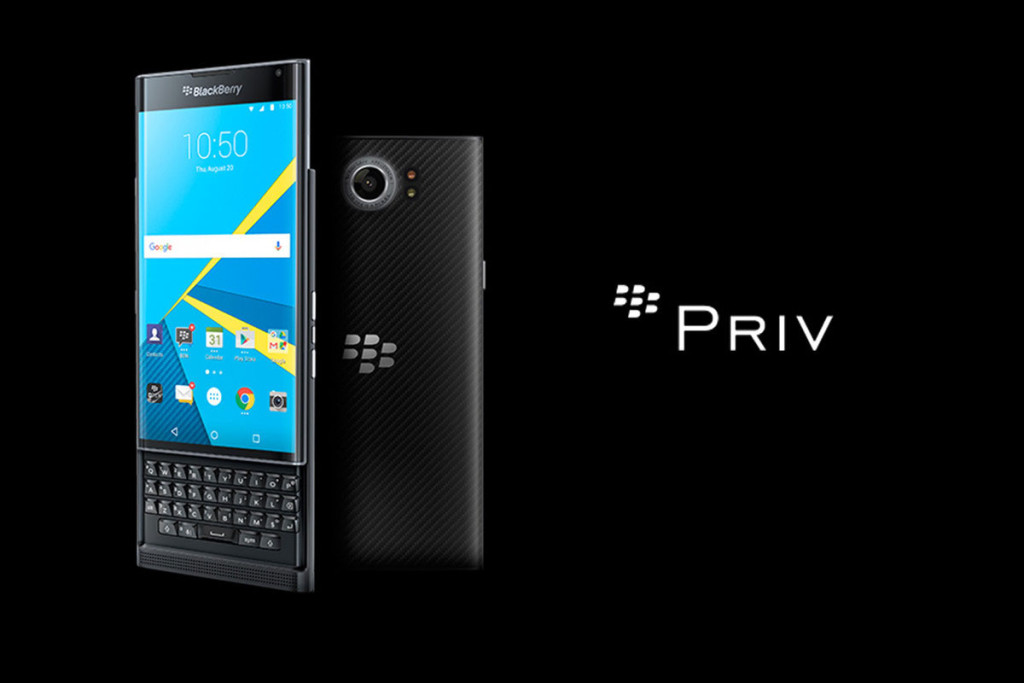 BlackBerry Priv Front and Rear Camera