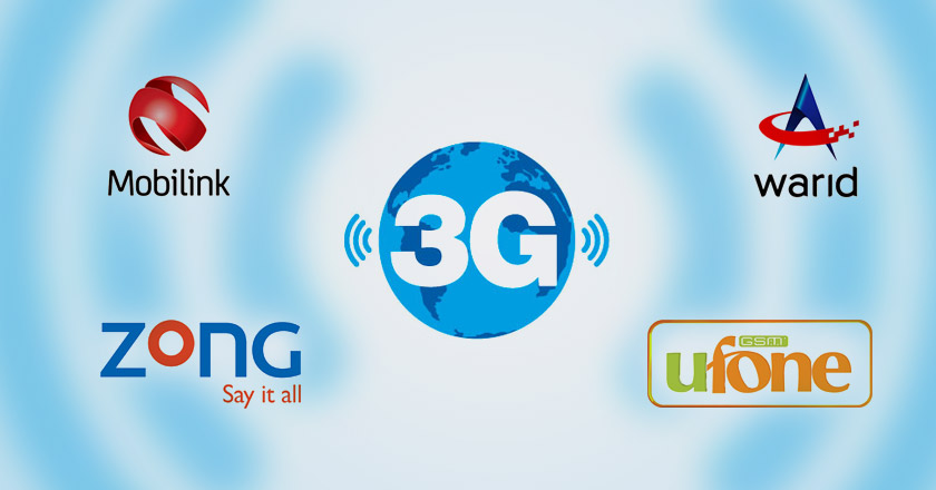 3G Mobile Internet Activation for Ufone, Telenor, Mobilink, Zong