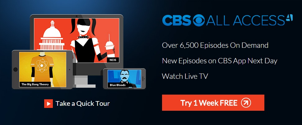 "How to get Free 7 day trial of ""CBS All Access"" Live TV Service"