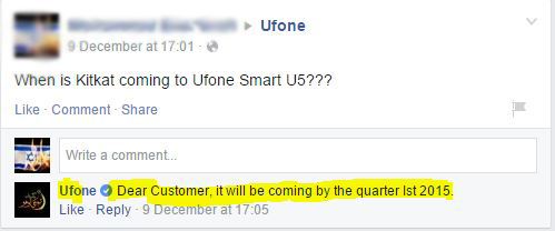 Android 4.4 Kitkat update for Ufone Smart U5 [Official]