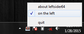 LeftInsider launcher in Taskbar
