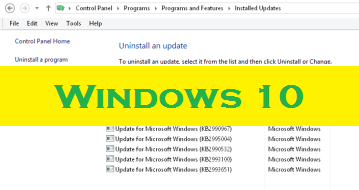 Uninstall/Remove Windows 10 from Windows Update, Upgraded from 7 or 8.1