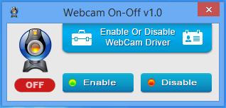 Webcam off status indicator