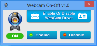 Webcam on status indicator