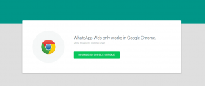 WhatsApp on Firefox and other browsers