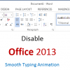 disable office animations