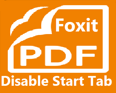 Foxit Reader How to Disable Start Tab or Page?