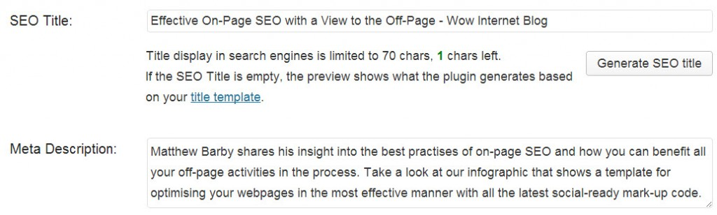 SEO for your new wordpress