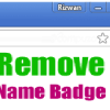 remove chrome name badge from title bar